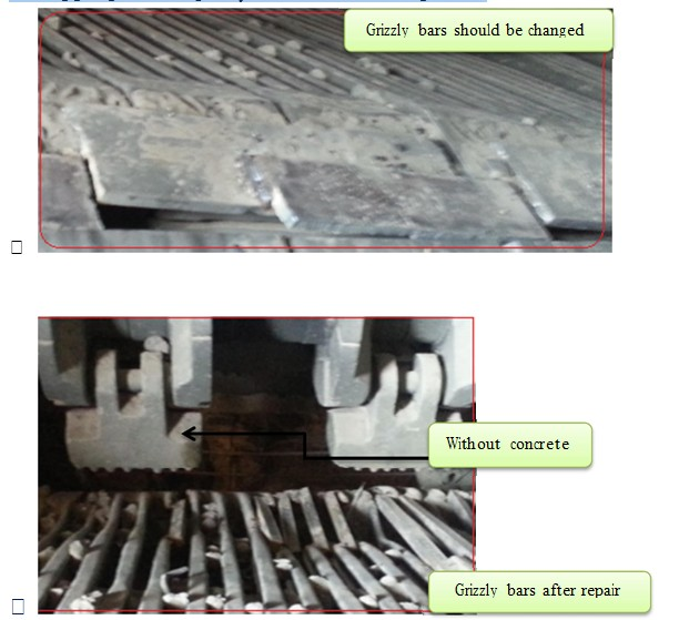 grizzly bars grate cooler cement kiln