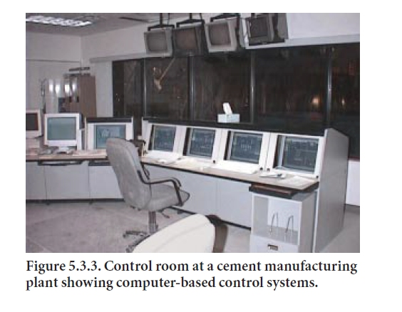 Figure 5.3.3. Control room at a cement manufacturing plant showing ...
