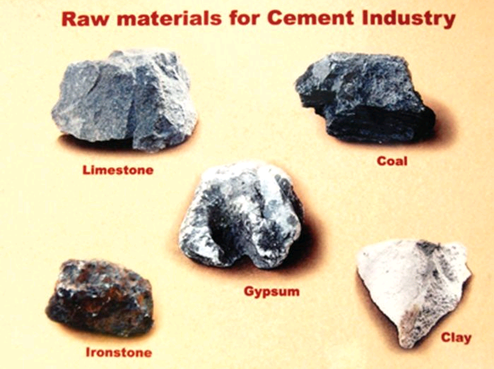 Raw materials used for Cement Production - INFINITY FOR